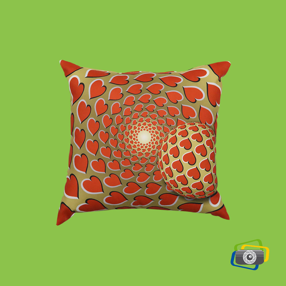 cuscino-illusion-3d-red