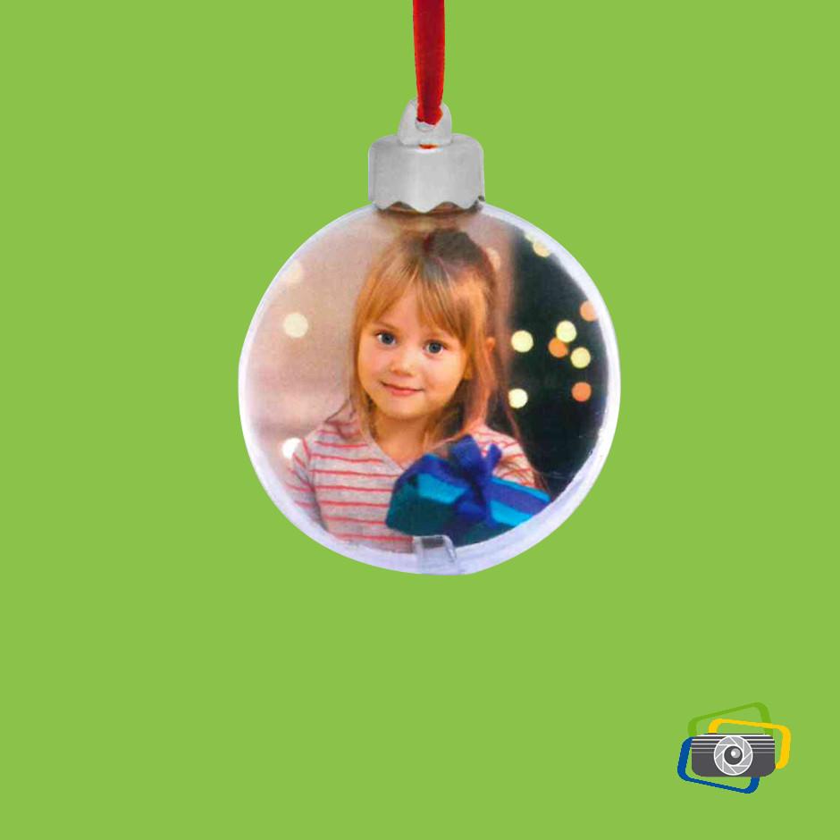 Palla di Natale piccola trasparente