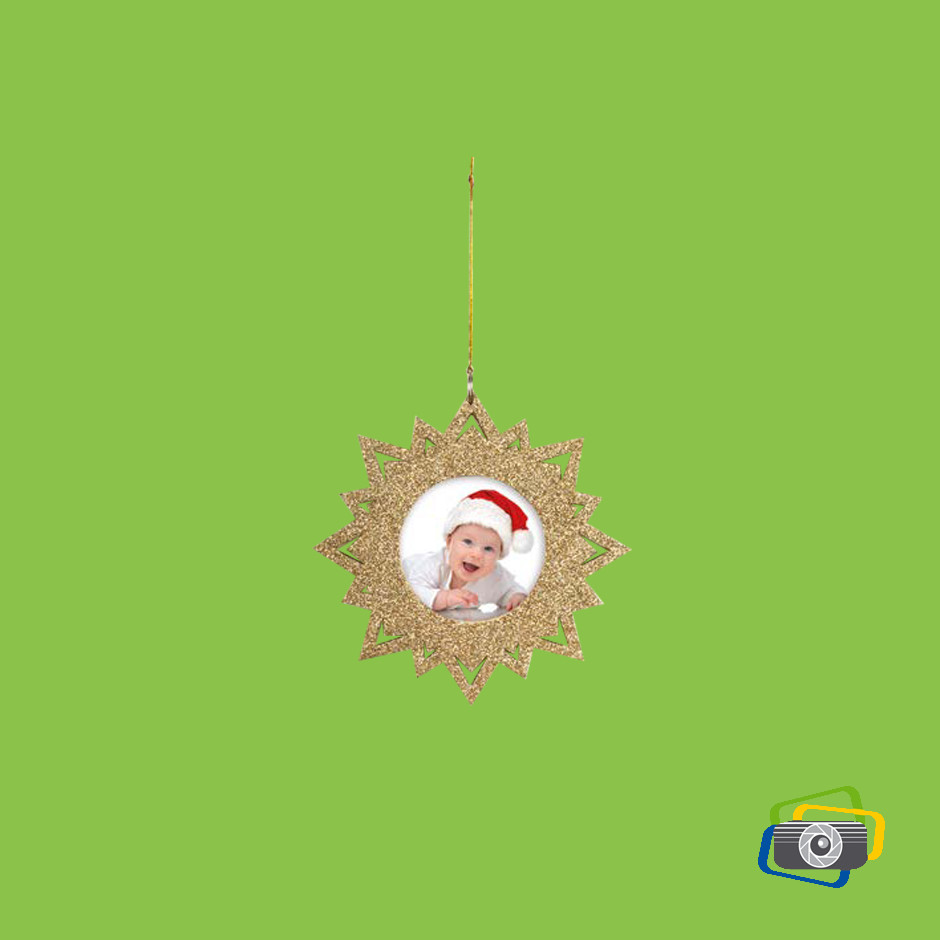 elsa oro, decorazioni natalizie con foto.